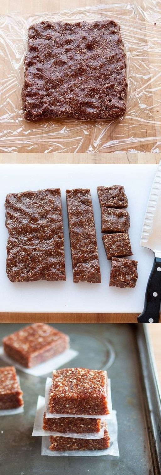 Power bars! Make them at home with only three ingredients and a food processor.