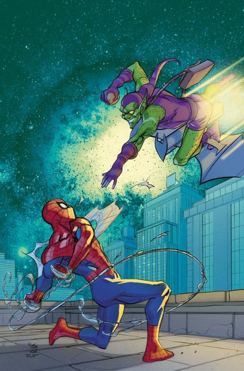 Spider-Man vs Green Goblin by Pasqual Ferry