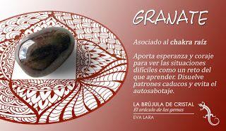 Granate. Chakra Raiz. #labrujuladecristal LA BRUJULA DE CRISTAL, Eva Lara.