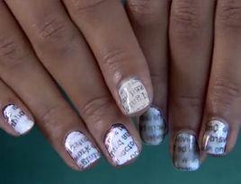 Newsprint Nails nailart idea