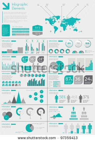 stock vector : Detail infographic vector illustration. World Map and Information Graphics