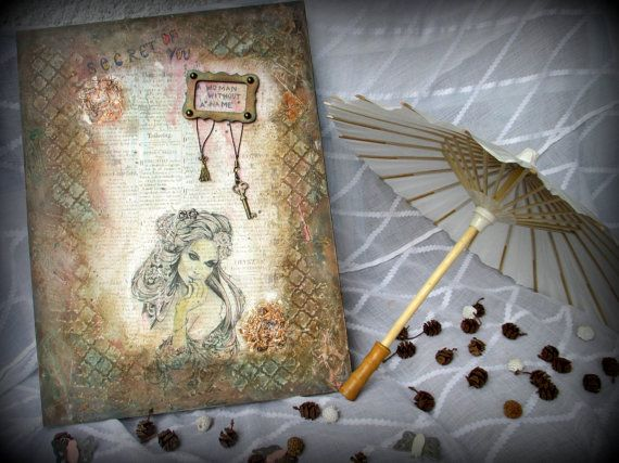 FREE SHIPPING Painting on wood:  A Woman by LettersFromHelen