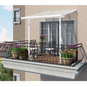 chalet u jardin toit couvu terrasse blanc xm