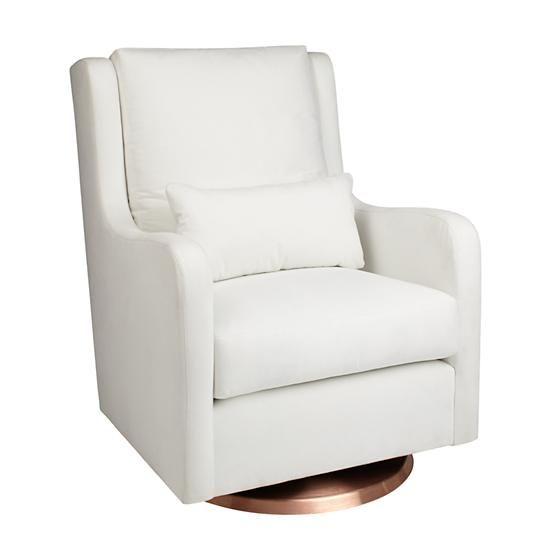 Milo Glider Ottoman White W Copper Base In Rockers Gliders The Land Of Nod Baby Nursery Ideas Pinterest And