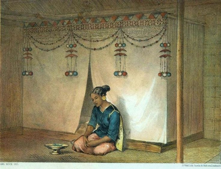 Berkas:COLLECTIE TROPENMUSEUM Kleurenlitho getiteld Jong gehuwde Maleische vrouw TMnr 5795-34.jpg - Wikipedia bahasa Indonesia, ensiklopedia bebas