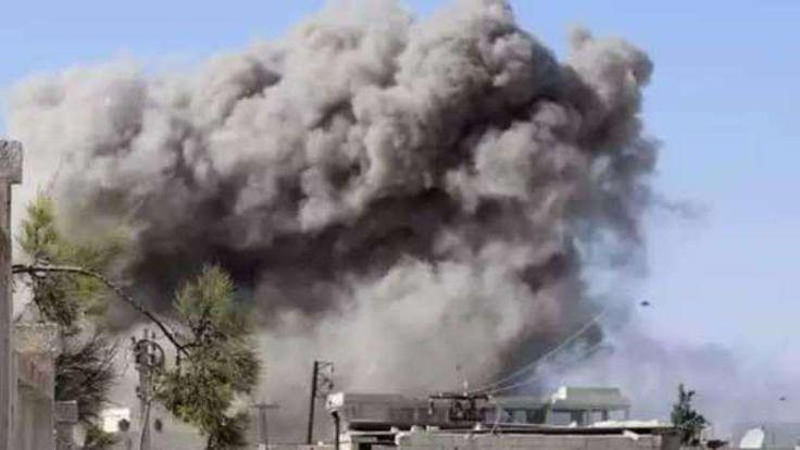Giliran Pesawat Tempur Rusia Gempur Idlib 18 Warga Sipil Suriah Meregang Nyawa  Pesawat-pesawat tempur Rusia gempur Orem el-Joz Idlib. (Foto: Qasyoon)  IDLIB (SALAM-ONLINE): Giliran Pesawat-pesawat tempur Rusia menggempur pedesaan Orem al-Joz di Idlib dengan mengarahkan sasarannya kepada warga sipil pada Sabtu (8/4).  Koresponden Orient-News di Idlib membenarkan bahwa pesawat-pesawat tempur Rusia melancarkan beberapa serangan udara yang ditujukan kepada penduduk sipil di Orem al-Joz bagian…