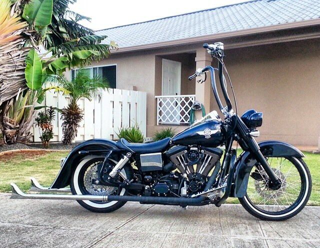 Custom Harley Street Bob >> Harley Davidson Dyna fish tails   Harley Davidson Dyna Street Bob   Pinterest   Harley davidson ...