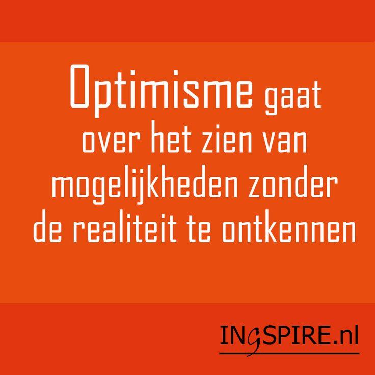 Spreuk over #optimisme