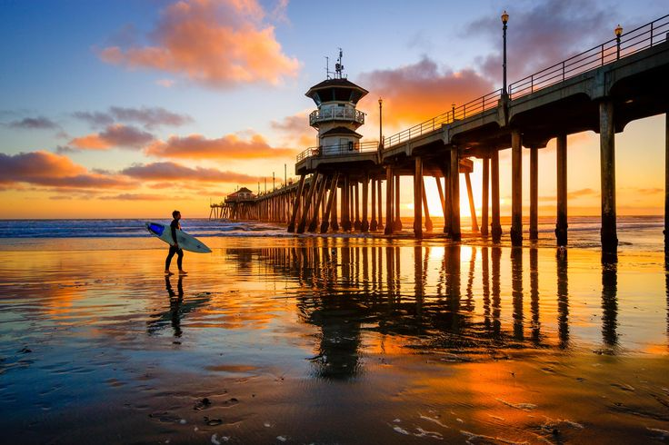 Huntington Beach Pier | Discovered from Dream Afar New Tab