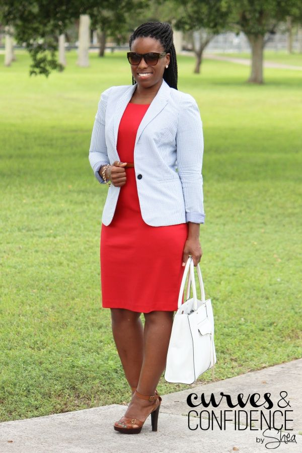 Red White And Blue Fashion Curvy Fashion Style