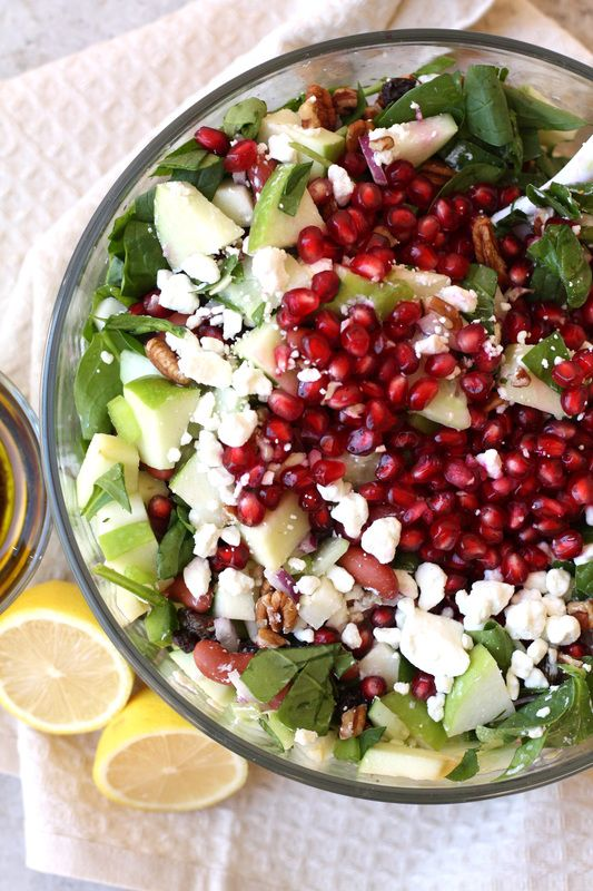Fall Harvest Salad with Maple Vinaigrette via Drool-Worthy www.droolworthydaily.com