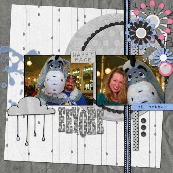 disney scrapbook layout,