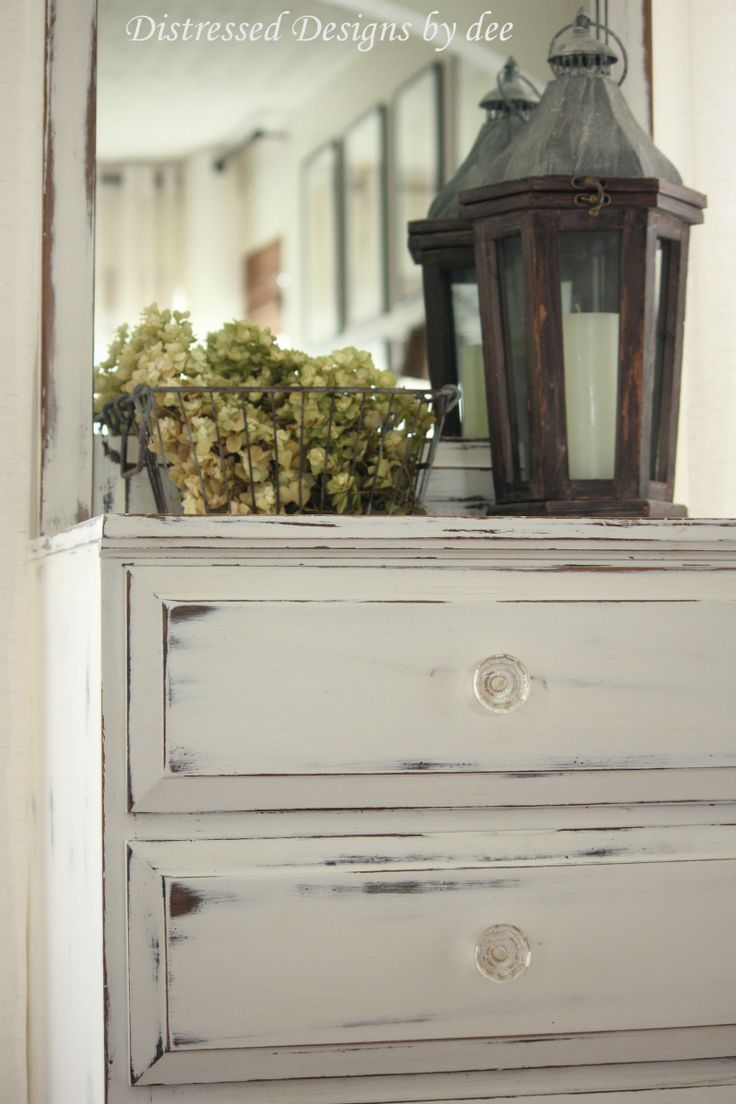 Best 10+ White distressed furniture ideas on Pinterest | Chalk ...