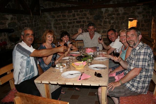 "Cheers, or as Montenegrins say, ""zivijeli!"""