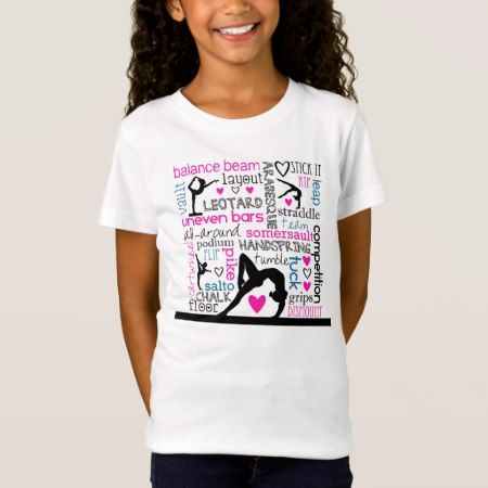 Words of Gymnastics Tri-Color Terminology T-Shirt - tap to personalize and get yours