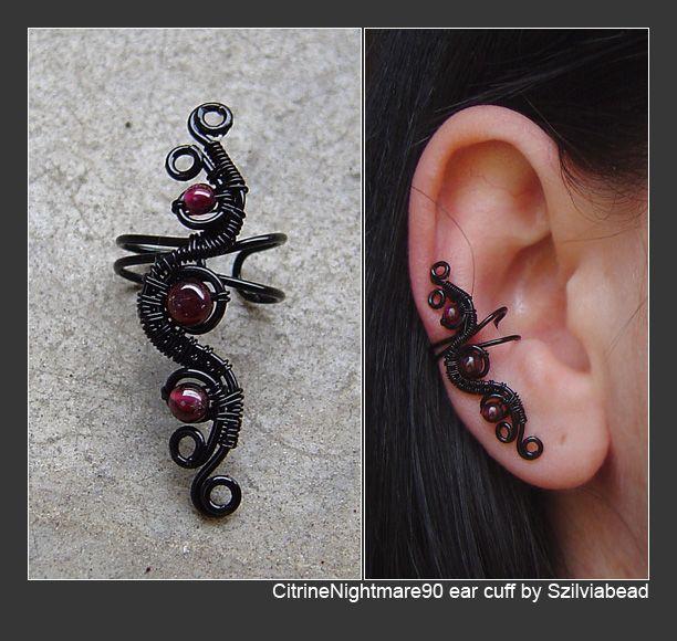 CitrineNightmare90 ear cuff by bodaszilvia.deviantart.com on @deviantART
