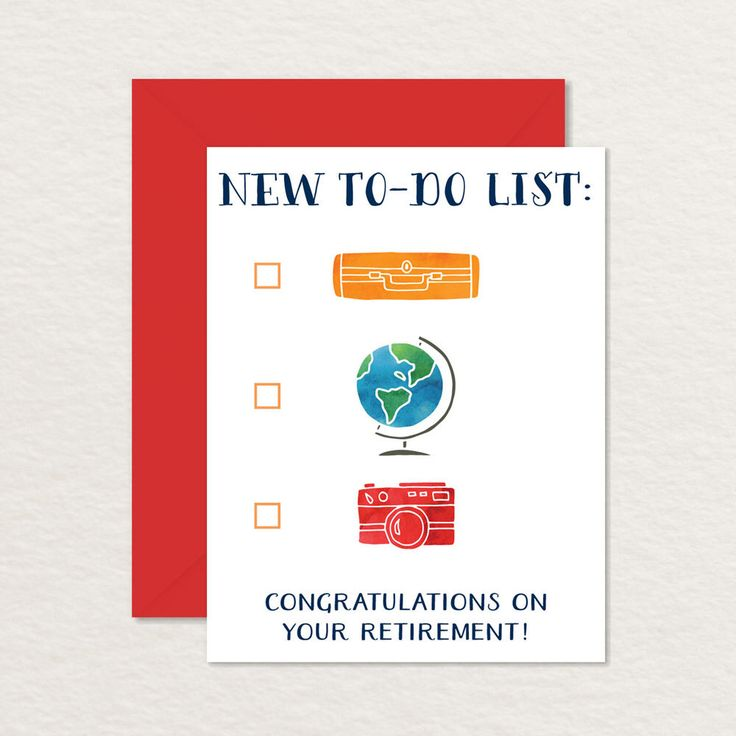 Postcard Quotes Travel: Printable Retirement Card / Congratulations Retirement