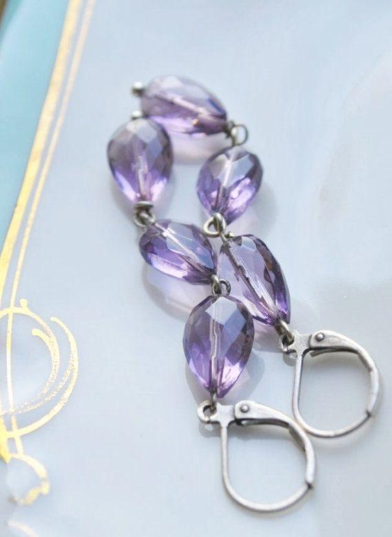 Lavender Provence facet amathyst quartz sterling by MoodsWingz, $50.00