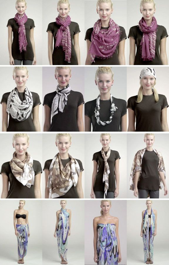 15 ways to wear a scarf