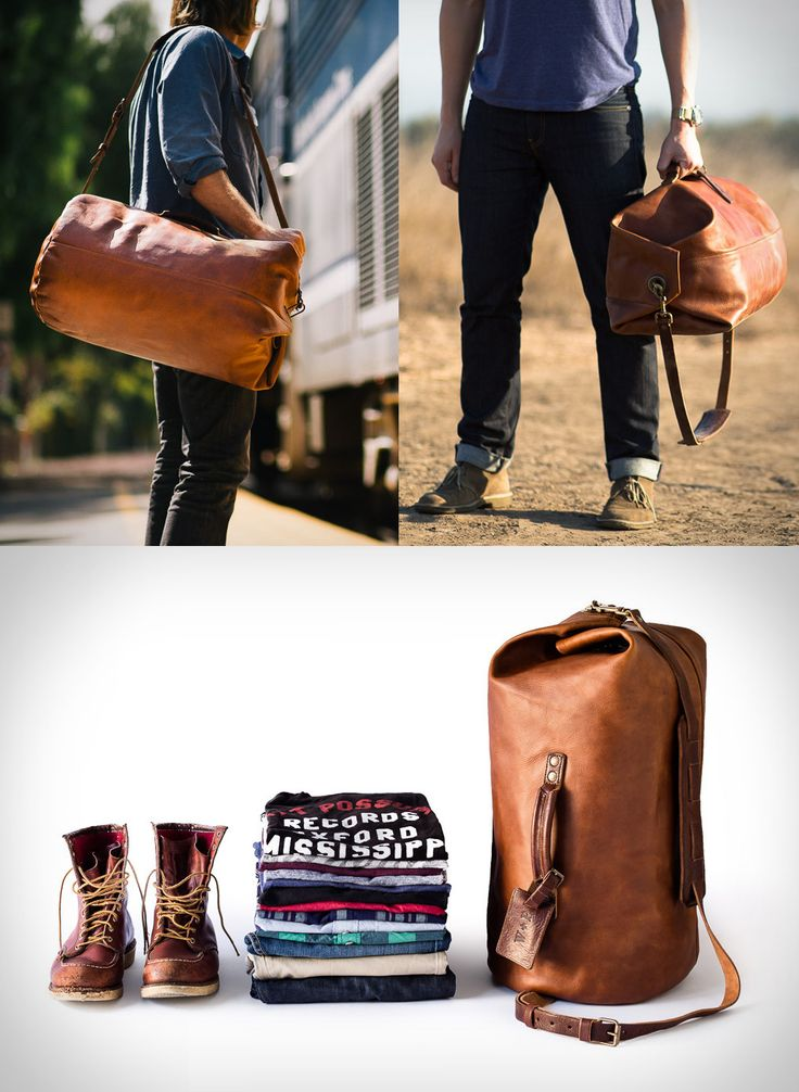 The Military Duffle bag, is a new stylish leather bag by Whipping Post, it is made from 100% vegetable tanned leather, and features a top-load style.          more details at blessthisstuff.com