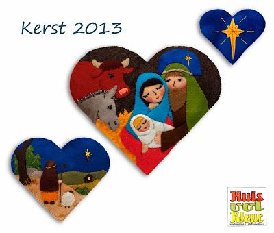 nativity hearts