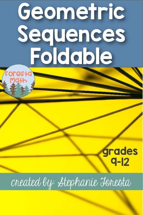 Geometric Sequences Foldable Back To School For High