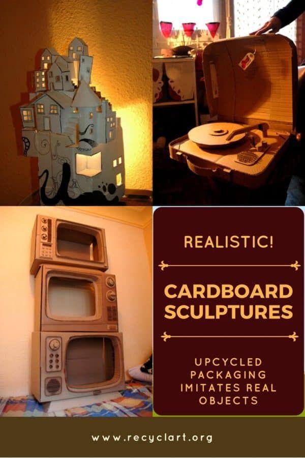 Amazing Realistic Cardboard Sculptures Imitate Life Cardboard