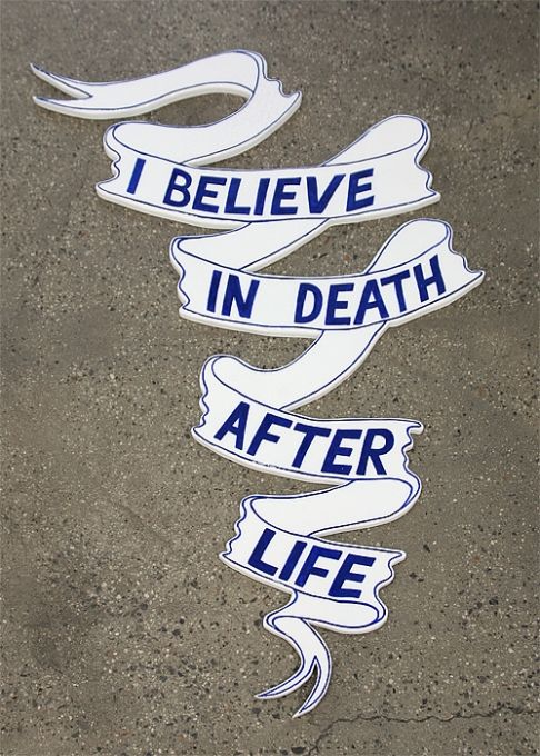 I Believe in Death after Life, wood, paint, 2013
