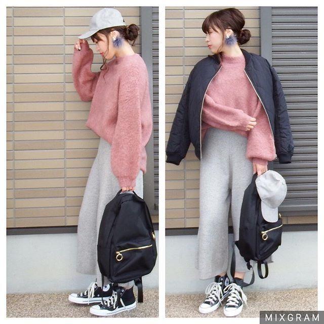 コーデの記録OZOCさんのピンクニット着回し☺️ ・ outer#ozoc tops#ozoc  bottoms#joliechambre bag#ozoc shoes#converse  pierce#@hiradesukedo cap#ozoc ・ #code #cordinate #outfit #プチプラコーデ#fashion#fashionpost #コーデ#コーディネート#ママコーデ#wear#ママファッション#今日のコーデ #今日の服#ファッション#モノトーン#オトナカジュアル #大人カジュアル #ozoc#冬コーデ#冬のコーデ#おしゃれ#オシャレ#ニットガウチョ#ゆるニット#コンバース#くすみピンク