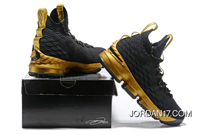 25d9fc2d7a8 LeBron James Nike LeBron 15 Mens Basketball Shoes Black Gold NBA Finals  Game 4 Copuon