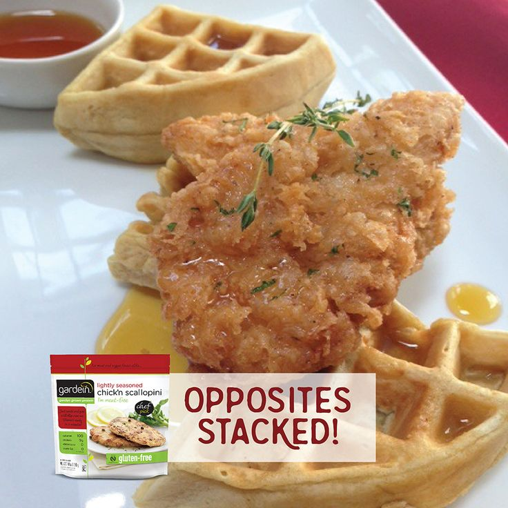 NationalWaffleDay! Try out this sweet and savory chick'n and waffle ...
