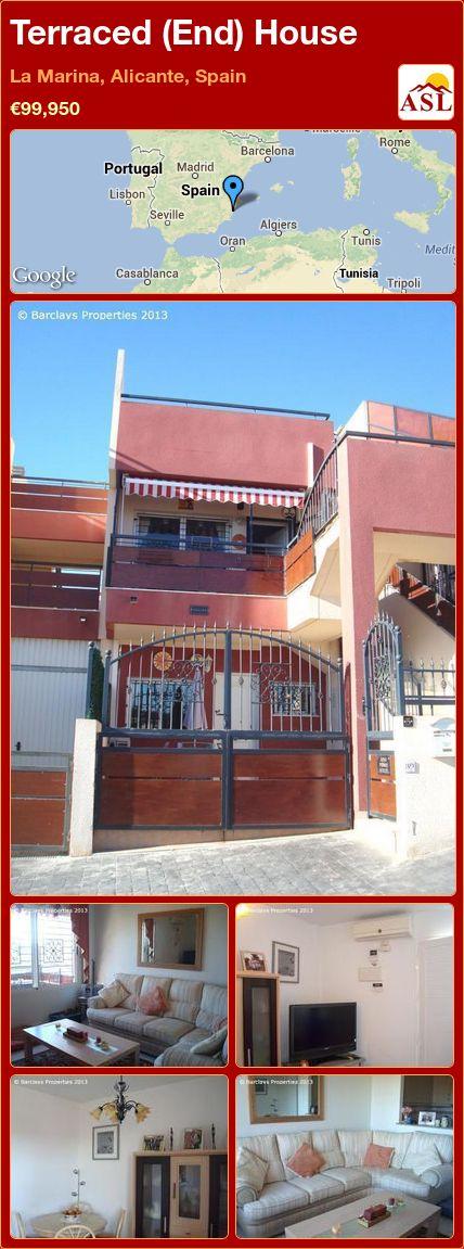 Terraced (End) House in La Marina, Alicante, Spain ►€99,950 #PropertyForSaleInSpain