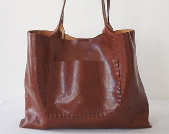 The Stella Bag Italian Leather Rum by stitchandtickle on Etsy