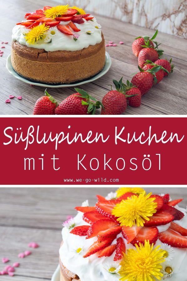 Lupinenmehl Kuchen Mit Erdbeeren Rezept Backen Ohne Zucker