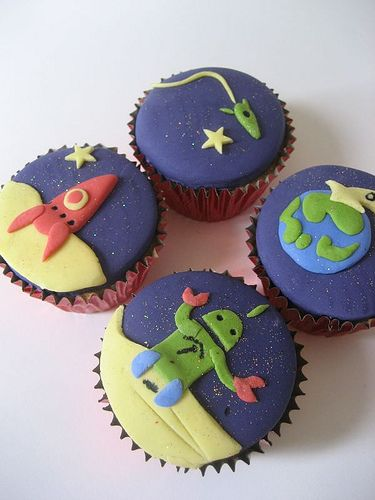Space cupcakes! by Bath Baby Cakes, via Flickr