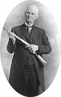John Moses Browning, born in Ogden, Utah, was an American firearms designer who developed many varieties of military and civilian firearms, cartridges, and gun mechanisms, many of which are still in use around the world. Wikipedia  Born: January 23, 1855, Ogden  Died: November 26, 1926  Without his revolutionary inventions we very likely would be speaking German in the US.