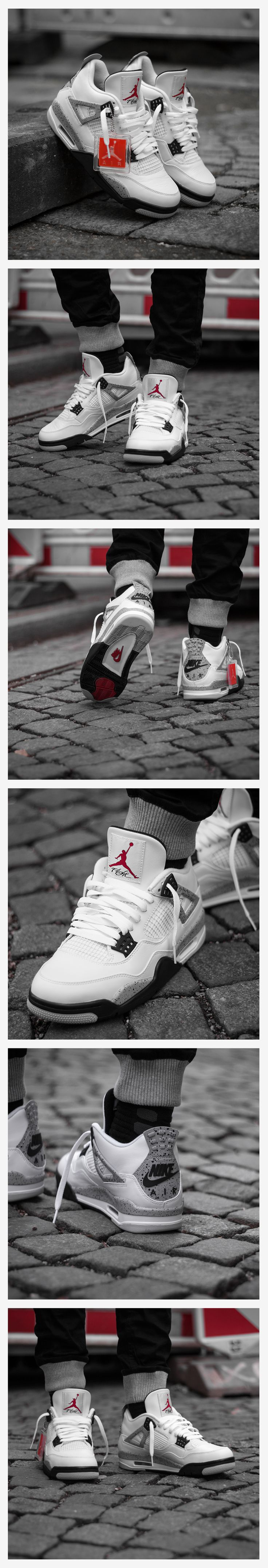 Mens Air Jordan Street Classic White Red shoes