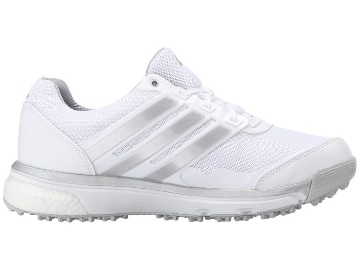 adidas Golf Adipower S Boost II Women's Golf Shoes Ftwr White/Matte Silver/Wild Orchid-Tmag