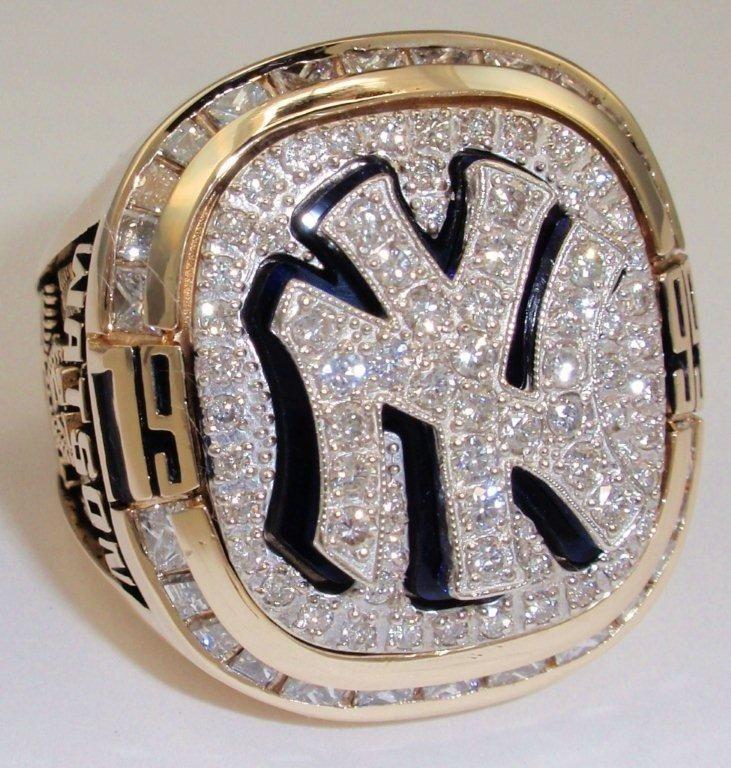 1999 New York Yankees World Series Champions 14K Gold and Diamond Player's Ring