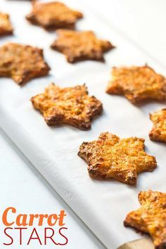 Carrot stars are a healthy snack for kids. High in protein with some added carrot goodness. Only 4 ingredients.