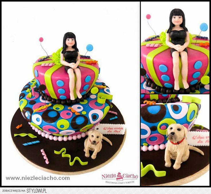 Dziewczyna, kobieta, tort z dziewczyną, dziewczyna na torcie, tort urodzinowy, tort na urodziny, torty dla dorosłych