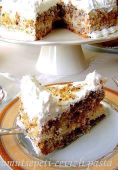 İçinde ceviz olan her şey gibi bu pasta da müthiş lezzetli! Bir kere deneyince müdavimi olacağınız muhteşem bir tarif; CEVİZLİ PASTA malzemeler: 6 yumurta 1 su bardağı şeker 2 su bardağı i…