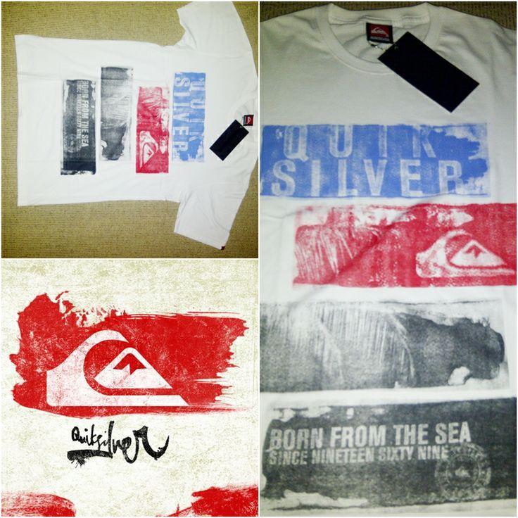 || QuickSilver T-shirt || bahan adem, sablonan berkualitas, Size Luar ( S, M, L, XL ) || Harga 80.000 (belum termasuk ongkir) pembayaran Via Mandiri - BCA, bisa langsung COD untuk wilayah Jakarta || RibakSude @085716168378 || Foto diambil menggunakan kamera Onix2 TANPA EDITAN WARNA .