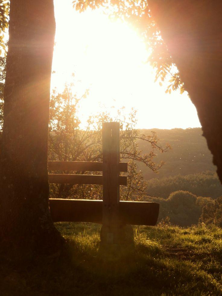 Katarínka - Dechtice - moja obľúbená - moja - pokoj a dobro - Slnko - čaro - lavička - like it