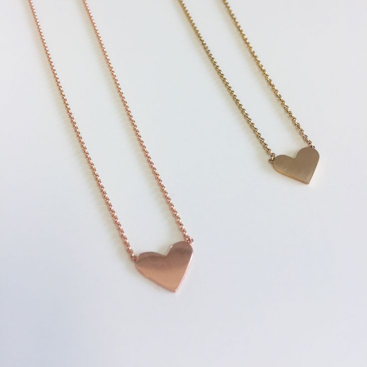 The heart symbol, as old as Aristotle himself. Representing our emotional selves, specifically affection and what we hold dear.   Designed for lifetimes in 14k gold. Rose gold and yellow gold. $375 each.