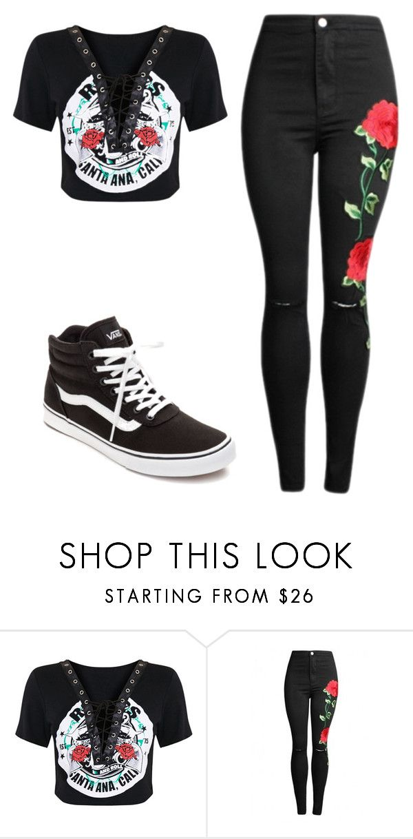 """""""Untitled #467"""" by pizza-lover02 ❤ liked on Polyvore featuring Vans"""