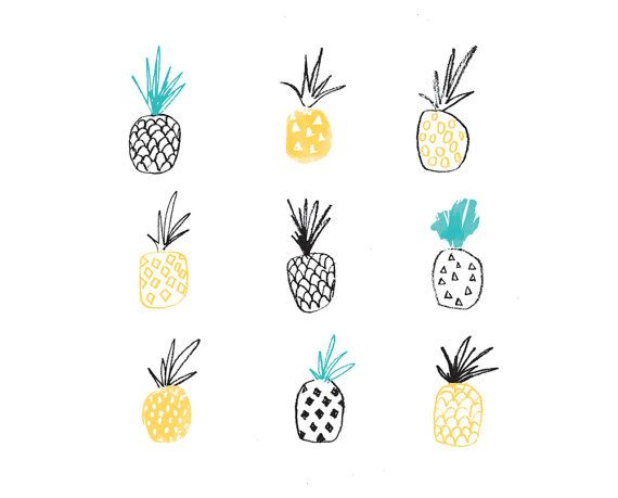 Fun, illustrative pineapple repeat print . This naive drawing will brighten up any corner of your home. Frame is for styling purpose only. Please choose your print size before checking out. WHAT YOU RECEIVE 1 Pineapple Print on premium quality 200gsm paper PACKAGING Packaged with the greatest of care and shipped rolled in brown paper and slotted inside a sturdy mailing tube for ultimate protection. SHIPPING Art is printed on demand - please allow maximum of 3 business days for shipme...
