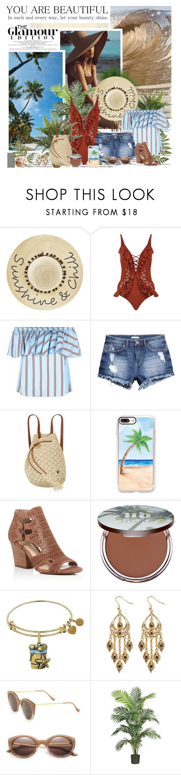 """Cozumel, Mexico"" by seafreak83 ❤ liked on Polyvore featuring Betsey Johnson, Zimmermann, Pinko, H&M, Billabong, Casetify, Vince Camuto, Urban Decay, Palm Beach Jewelry and Illesteva"