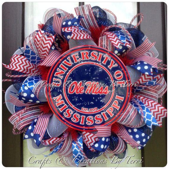 University of Mississippi OLE MISS Rebels by CreatedByTerri, $79.00