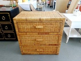 Woven RATTAN Chest for the Guest Bedroom ;)